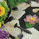Filet de protection de bassin anti-héron - Pour les étangs de jardin, pour protéger les poissons des animaux sauvages - Piquets d'ancrage inclus.