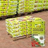Bio Tomaten- und Gemüseerde torffrei auf Palette - 40 Sack à 20 Liter - Kokosmark, Holzfaser, Kompost - Spezialerde ohne Torf in Bio-Qualität - biologisches Naturprodukt - Kölle's Bio