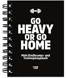 KAWAI-KAMI Trainingstagebuch & Ernährungstagebuch für Krafttraining, Fitness-Studio, Gym, Sport; mit Erfolgskontrolle; 200 Seiten DIN-A6; Schwarz