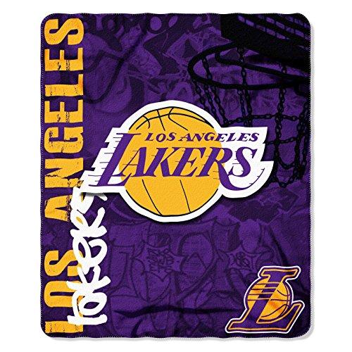 NBA HARD KNOCKS Fleece Decke 152 x 127 cm Los Angeles Lakers
