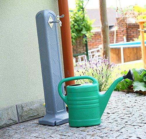 Wassersäule Wasserzapfsäule Entnahmestelle Wasserhahn Tanker Wasserzapfstelle Steinoptik Grau