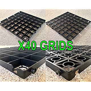 DRIVEWAY PARKING GRIDS 10 SQUARE METRES = X40 DRIVEWAY GRIDS @ 50x50cm + HEAVY DUTY WEED FABRIC MEMBRANE - GRAVEL GRIDS OR GRASS GRIDS (4 makes 1 square metre) PLASTIC STABILITY GRIDS ECO PAVING BASES & DRIVE WAY GRID POROUS PAVING GRASS AND GRAVEL GRIDS