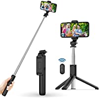 Selfie Stick, Extendable Selfie Stick with Wireless Remote and Tripod Stand, Portable, Lightweight, big Height…