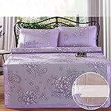 LJ&XJ Faltbare kühlen Sommer pad matratze schlafen,Kühlung der matratze top mat atmungsaktive Sommer schlafen mat-Bing SI,König & königin-C Twinch2