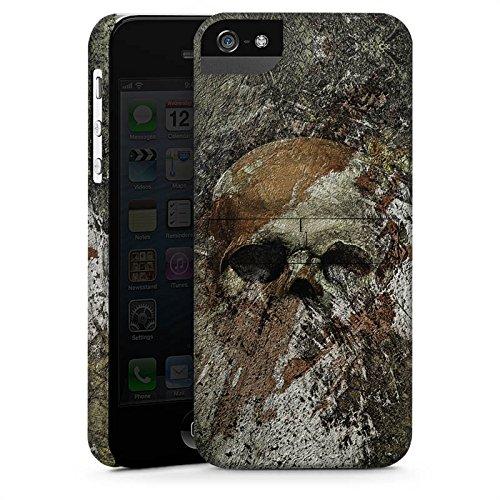Apple iPhone X Silikon Hülle Case Schutzhülle Skull Totenkopf Bones Premium Case StandUp