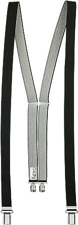 Fatto in Germania Xeira Colori uni 25 mm di larghezza Bretelle Donna con 4 clips e retro in vera pelle