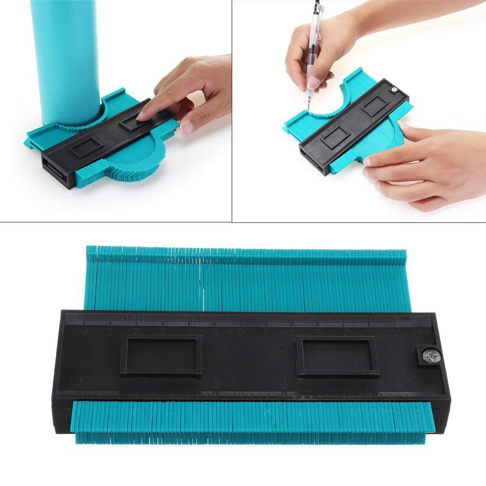 TAOtTAO Outil de jauge de profil en plastique 120 mm