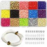 Ewparts bricolaje 3 mm mini cuentas de diy para niños, cuentas de acrílico para la fabricación de joyas, pulseras, collares, juguetes educativos para niños (triángulo)