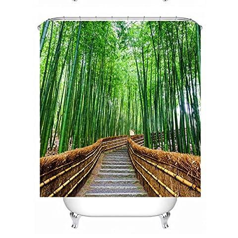 Douche Diy Rideau Costume - KKY-ENTER Simplicité moderne DIY 3D Bamboo Forest