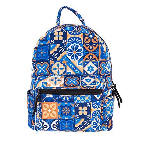 Kleiner Mini-Rucksack für Damen und Kinder modisch bedruckt in verschiedenen Mustern | Tagesrucksack Erwachsene und Kinder | Frauen Rucksack-Hand-Tasche | Kindergarten-Rucksack (Suchen Erwachsenen City)