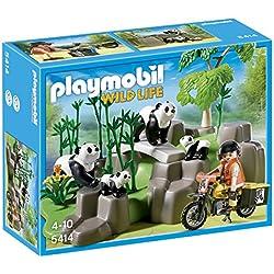 Playmobil Vida Salvaje - Pandas en el bosque de bambú (5414)