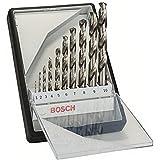 Bosch Professional Set Robust Line con 10 brocas para metal HSS-G (rectificadas, accesorios para taladro atornillador)