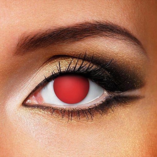 Halloween Farbige Kontaktlinsen Ohne Stärke Blind Rot (90 Tage) (Halloween Blind Kontaktlinsen Eye)