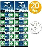 DNA - 20 batterie AG13 LR44, multicolore (Confezione da 20)