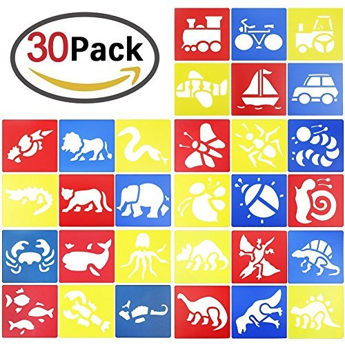 GeMoor 30pack Washable Stencils, Bug Stencil for Kids Art Crafts, School Projects
