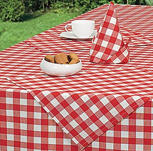 vadishop-lot-de-6-serviettes-de-table-vichy-anti-tache-acrylique-40x40cm-rouge