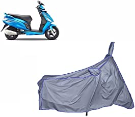 HOLME'S Ultrathin Japanese Silver Two Wheeler Cover for Hero Maestro Edge (100% WaterProof Fabric)