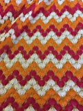 Iana Fabrics New Multi Farbe soney Wie Zigzag Spitze Stoff