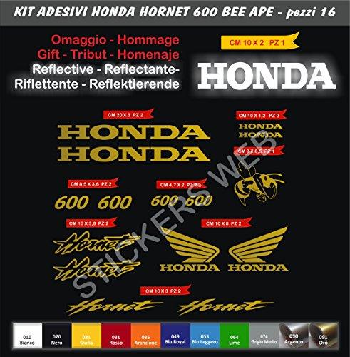 adesivi-stickers-honda-hornet-600-ape-bee-kit-15-pezzi-scegli-colore-moto-motorbike-cod0129-oro-cod-