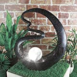 Benross Medusa Garden Crackle Ball Licht Solar Ornament, Schwarz