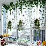 HongYa Raffrollos Schmetterling Voile Raffgardinen 1er-Pack B*H 80*150cm