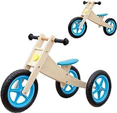 Vinz Kinderlaufrad | Laufrad Lernlaufrad Lauflernrad | ab 1 Jahre (18 Monaten) | Kinder Fahrrad Dreirad Kinderdreirad (Blau)