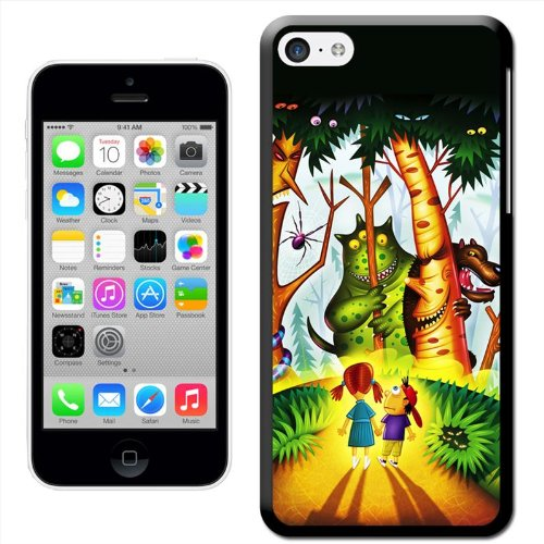 Fancy A Snuggle 'Sensenmann mit Rot leuchtenden Augen' Hard Case Clip On Back Cover für Apple iPhone 5C Kids Surrounded By Monsters