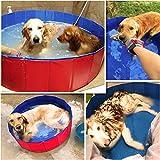 MENGYINY Perros, gatos, bañeras, mascotas, perros de gran tamaño, piscinas, bañeras, alimentos para mascotas, piscinas circulares,47*H de 12 pulgadas