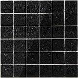 Keramik Mosaik Fliesen Nairobi Schwarz Poliert