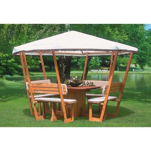 Ersatzdach für Holz-Pavillon »Rosenheim« weiß