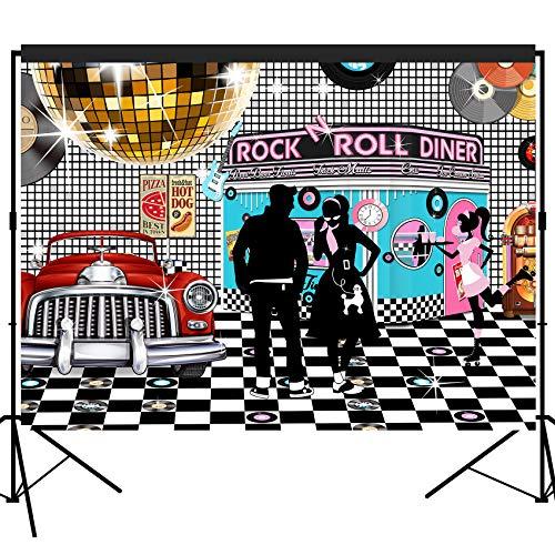 hre Diner Kulisse groß Banner Dekoration Dessert Tisch Hintergrund Fotobooth Requisite 17,8 x 152 cm ()