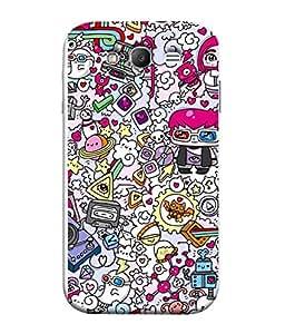 FUSON Designer Back Case Cover for Samsung Galaxy Grand Neo I9060 :: Samsung Galaxy Grand Lite (Multi Colour Art cartoons Crazy Patterns )