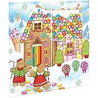Maison de Pain d'épice de Noël géante Sweet Candy Holiday-Hansel et Gretel-Fées en Scene Setter l'école