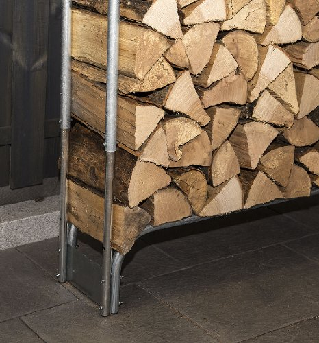 myowngreen Brennholz-Stapelhilfe BSH 331 verstellbar 1,3-1,9 m³ Kaminholzregal