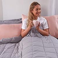 Brentfords Couverture lestée 4 kg Thérapie anti-anxiété, autisme, insomnie, calme le stress, simple – Gris argenté – 125…