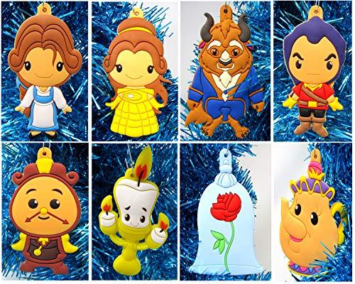 ents Weihnachtsbaumschmuck Die Schöne und Das Biest, Mini-Ferien-Set, mit Belle, Biest und Freunden, ca. 7,6 cm hoch ()