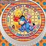Cannellio Cakes vorgeschnittenen Essbarer Zuckerguss Cake Topper, 19,1cm rund Winnie Pooh und Friends