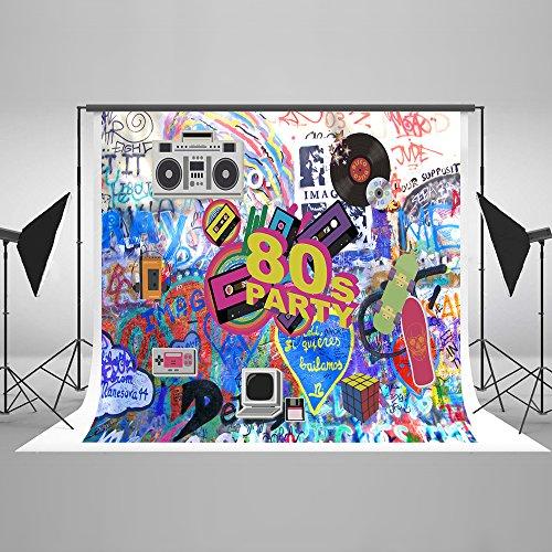 ergrund Hip Hop 2,2x 1,5m 80er Party Foto Hintergründen Abstrakt Fotografie Hintergrund Parteien Hintergründe für Studio (Hip-hop-hintergrund)