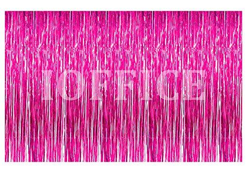 Metallic Folie Fransen Vorhang. 3m x 8ft. Folie (Store Hollywood In Halloween)