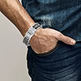 KUZZOI Herren Armband aus massivem 925er Sterling Silber, Breite 20 mm, Länge 19 cm, 335104-019 - 3