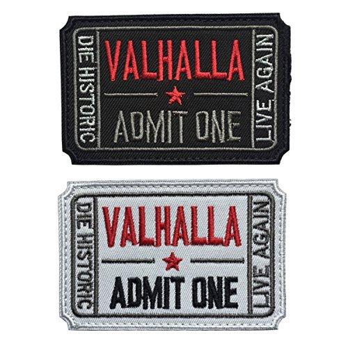 spaceauto Ticket to Valhalla zugeben Man sterben Historic Live wieder 3D bestickt...