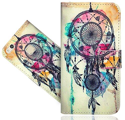 Preisvergleich Produktbild Huawei P10 Lite Handy Tasche,  FoneExpert® Wallet Case Flip Cover Hüllen Etui Hülle Ledertasche Lederhülle Schutzhülle Für Huawei P10 Lite
