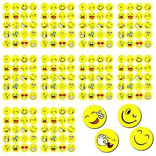 Oblique Unique® 200 x Smiley Face Sticker I Verschiedene Stimmungen I 200 x Ø 20cm I Dekoration I Kinder Geburtstag