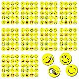 Oblique-Unique 200 x Smiley Face Sticker I verschiedene Stimmungen I 200 x Ø 20cm I Dekoration I Kinder Geburtstag