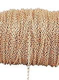 10m non sbiadisce Twisted catene in metallo placcata oro rosa catena cavo di collegamento per creare gioielli catena per fare fai da te bracciale collana 3 x 4mm Cross chain