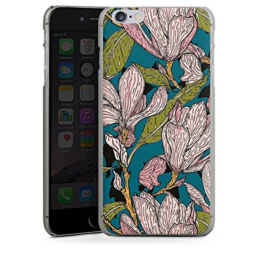 Apple iPhone SE Housse Outdoor Étui militaire Coque Magnolias Fleurs Fleurs CasDur anthracite clair