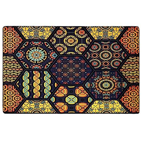 Tappeti moda europea e americana tappeti moderni geometrici etnici per il vento tappetini per soggiorno tavolini da salotto divano letto comodini sottili (dimensione : l)