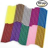 WXJ13 10 couleur Colle chaude Gun Sticks 7 mm par 10 cm Hot Melt Bâtons de colle Mini pour DIY Art Craft, 60 Pièces