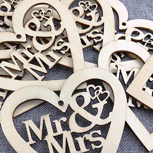 """Holzanhänger """"Mr + Mrs"""" - 5"""