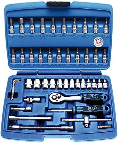 """BGS 2141   Steckschlüssel-Satz   Antrieb 6,3 mm (1/4\"""")   Zollgrößen   46-tlg."""